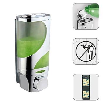 Dosificador Dispensador de Jabón Líquido Shampoo 300 ml para Pared Sanlingo: Amazon.es: Hogar
