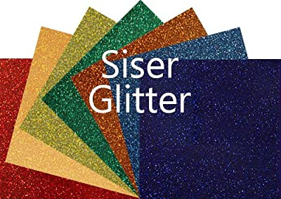 "Siser Glitter Heat Transfer Vinyl 20"" x 12"" Sheet from Siser"