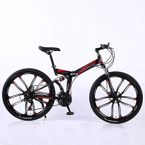 WGYEREAM Bicicleta de Montaña, Acero al Carbono 21 24 27 24 ...