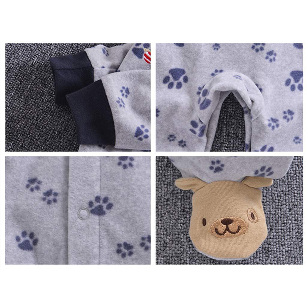 Baby Fleece Romper Cartoon Footies Jumpsuit Spring//Autumn//Winter Bodysuit Cute Sleepsuit 0-3 Months