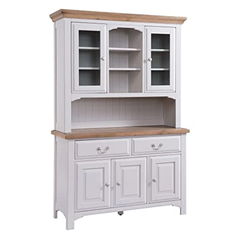 Muebles UNIQUECHIC – Georgia país luz gris gran vitrina de cocina