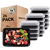 Meal Prep Containers 24 Pack, Microwave Freezer Safe Food Storage Containers Meal Prep, The Best Disposable Plastic Food Prep