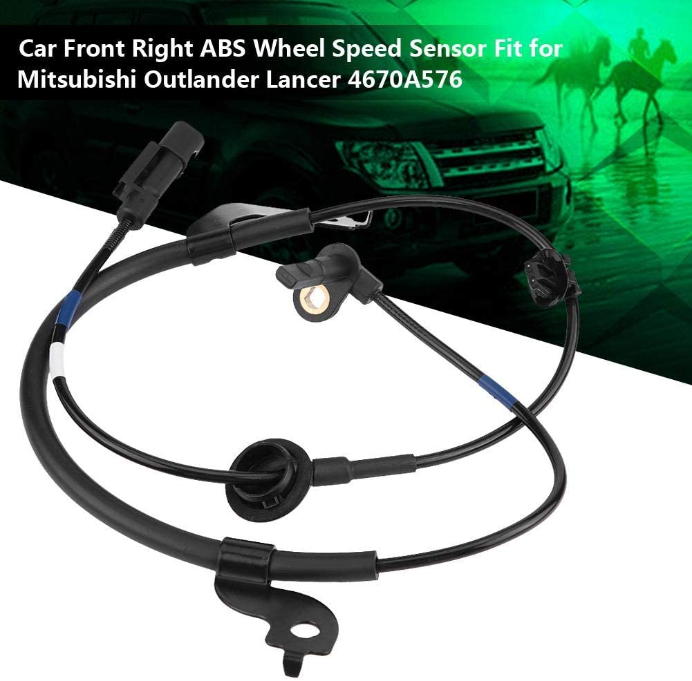 Car Front Right ABS Wheel Speed Sensor Fit for Outlander Lancer 4670A576 Black Wheel Speed Sensor