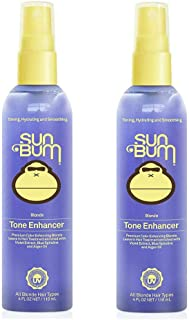 product image for Sun Bum Blonde Tone Enhancer | Paraben, Gluten and Cruelty Free Purple Leave In Treatment for Blondes | 4 oz | Pack of 2