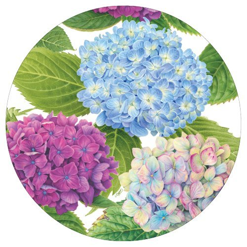 Paper Plates Dessert Plates Salad Plates Party Supplies Hydrangea Garden, Blue, 8
