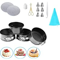 4-Inch Mini Springform Cake Pans - Set of 4 Carbon Steel Baking Pan, Mini Cheesecake Pan with Removable Bottom