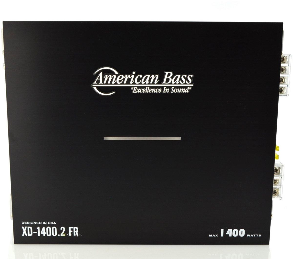New American Bass Xd14002 1500 Watt 2 Channel Car Amp Car Audio Amplifier