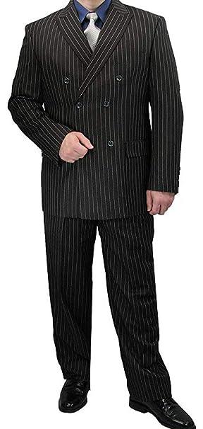 Amazon.com: Traje de moda para hombre de doble pecho Banker ...