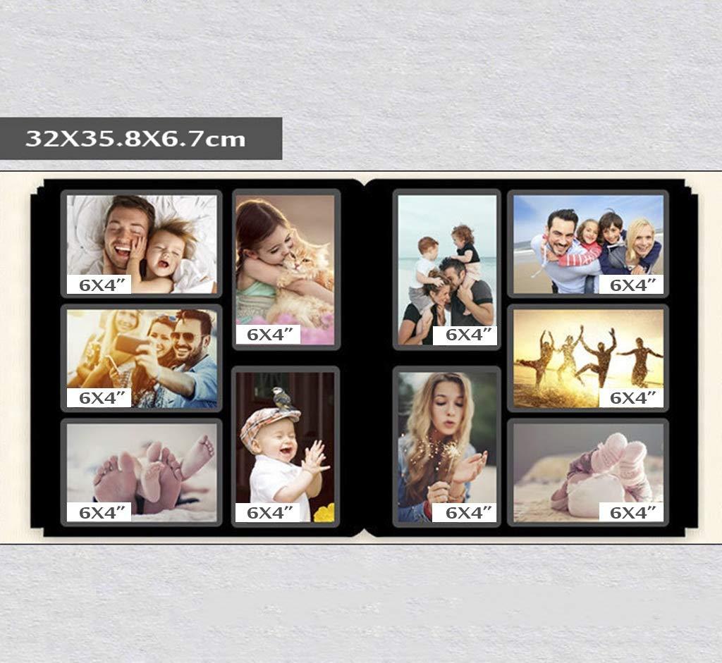 Album de Fotos Álbum de Fotos Retro intersticial álbum  El álbum intersticial conmemorativo Puede almacenar 1000 Fotos 6X4 (4R) Fotos Turismo Amor (Color : Color Cafe) 74ca62