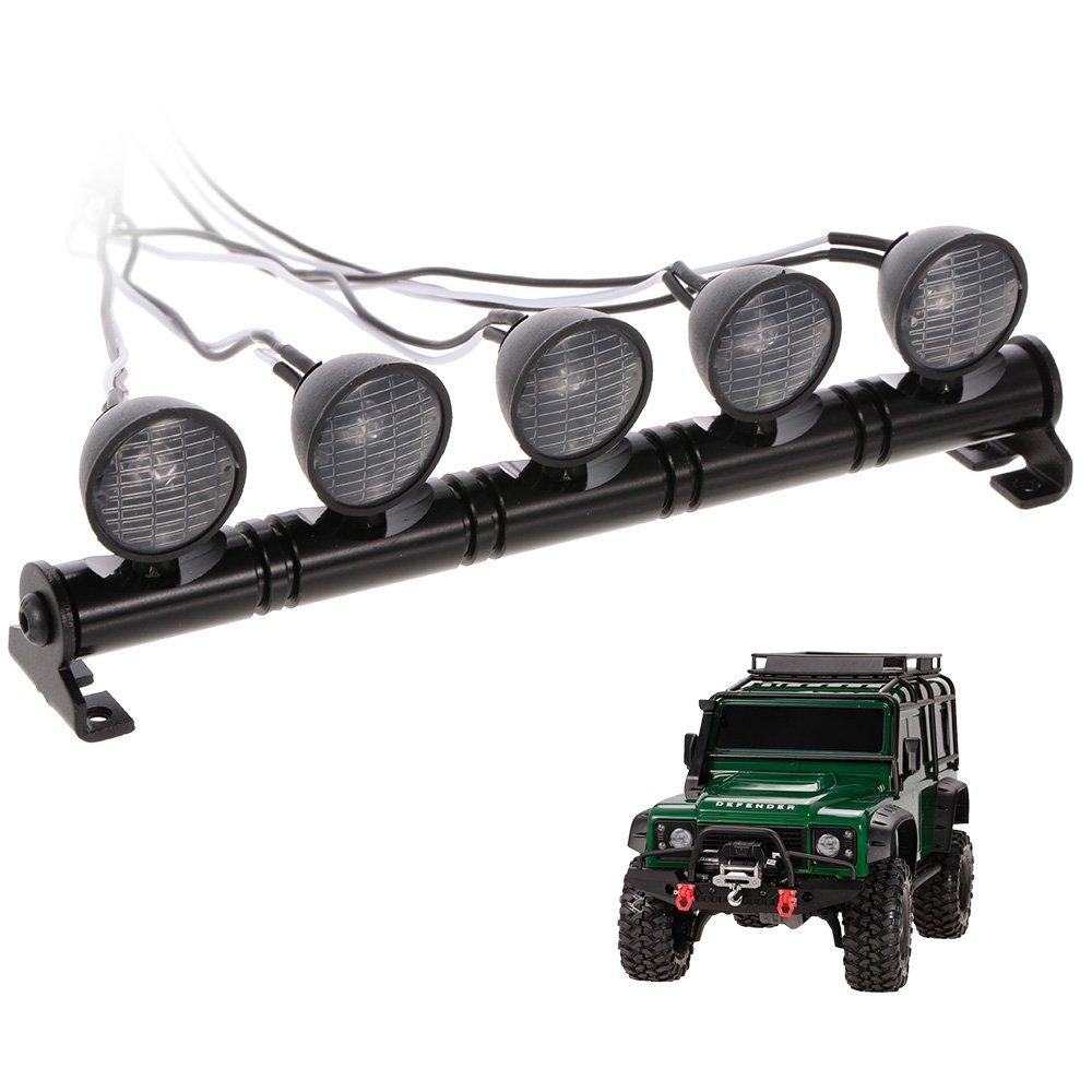 Festnight RC Voiture Ronde LED Lumi/ère et Couverture pour 1//10 RC Crawler Axial SCX10 D90 110 Traxxas TRX-4 Tamiya HSP RC Voiture Pi/èces