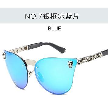 JUNHONGZHANG Dazzle Personalizada Espejo Big Frame Gafas De ...