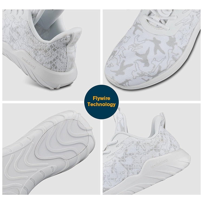 Soulsfeng Zapatos Deportivos Zapatillas Zapatos de Hombres para Mujer Calzado Deportivo Zapatos Planos Zapatos Con Cordones(gris 45EU) fy4v3KC