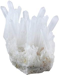 SUNYIK Natural Rock Quartz Crystal Cluster,Druzy Geode Specimen Gemstone Sculpture Sphere(0.1-0.2lb)
