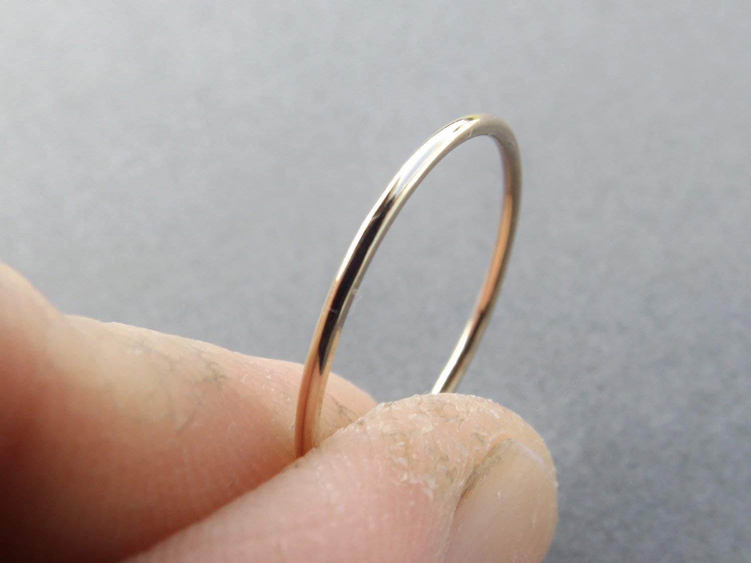 6d06d5fb2ba6f 1 Smooth Slim Gold Stacking Ring,Knuckle, or Thumb Rings,Gold Rings ...