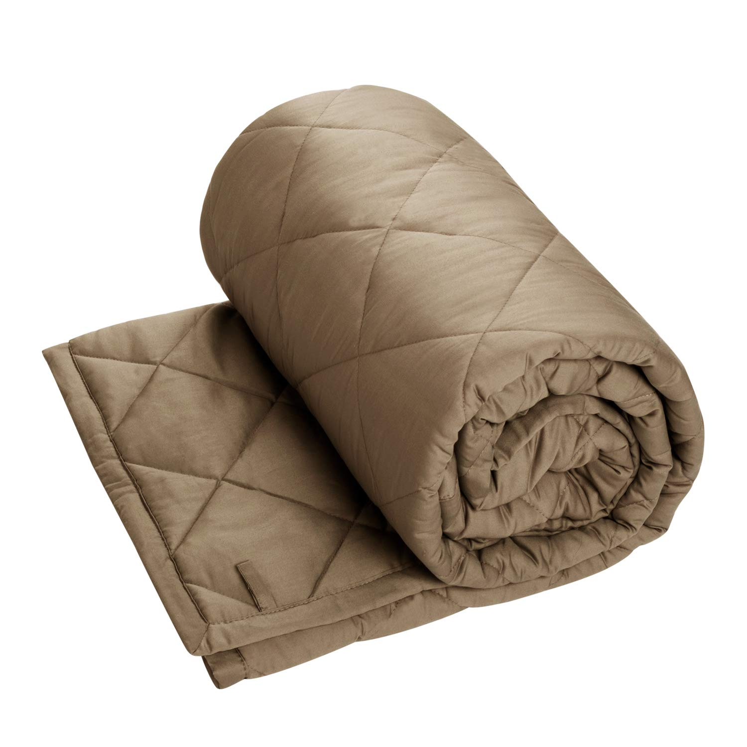 CALA Weighted Blanket 5lbs for Kids,36''x48'' Heavy Blanket for Children,Natural Cotton Material with Glass Beads,Blankets 2.0, KHAKI