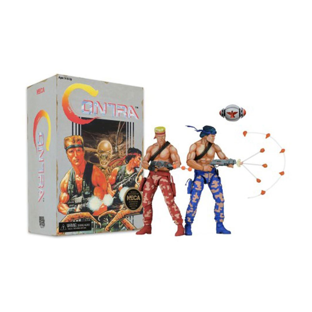 Contra Contra Contra Action Figures 2-Pack Bill & Lance Video Game Appearance 18 cm Neca 9fc95a
