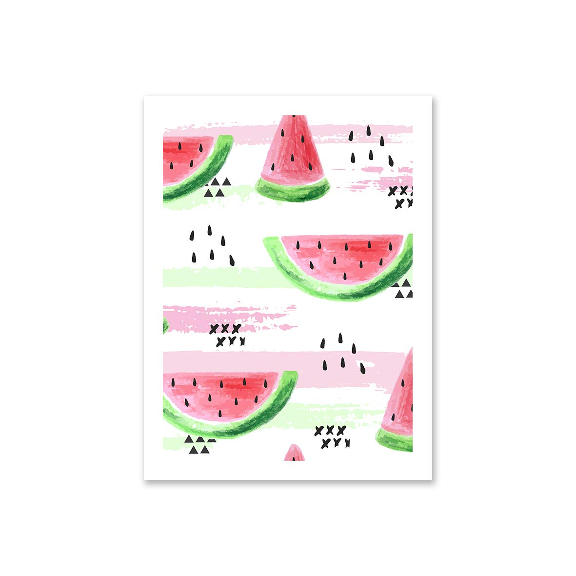 Unframed Premium Printing with Canon Japan Ink 12x16 inch Watermelon, Coconut, Pineapple Set of 3 TUNAstudio Tropical Vibes | Designed Canvas Prints