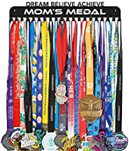 Medal Holder Display Hanger Rack Frame - Sturdy Wall Mount Over 60 Medals Easy to Install-Dream.Believe.Achiev
