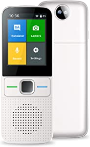MSIDIGTAL Language Translator Device Smart Intelligent Two Way WiFi/Hotspot/Offline Instant 2.4 Inch Touch Screen Support 137 Languages Pocket Instant Voice Translator