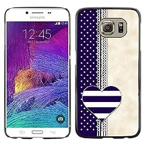 iKiki Tech / Estuche rígido - Notebook Blue Beige White - Samsung Galaxy S6 SM-G920