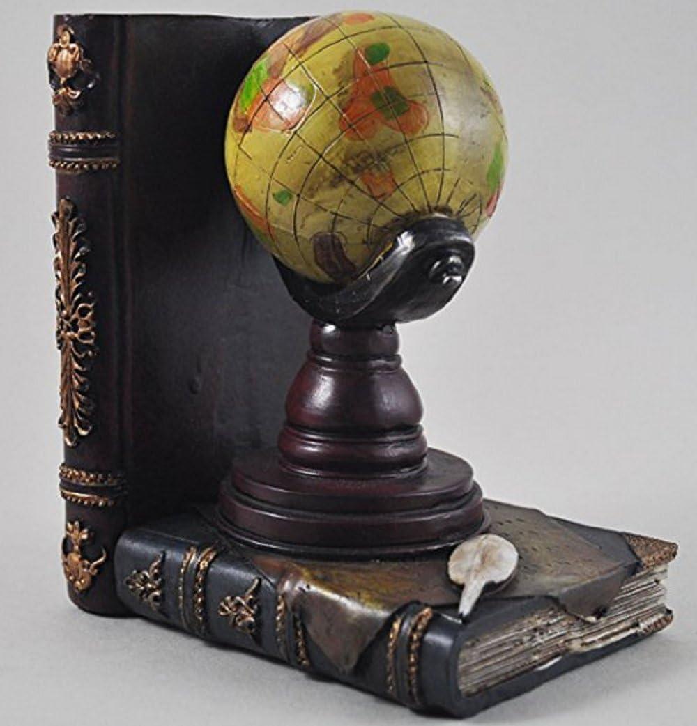 Sulin Globe Et Télescope Étagère Rangé Livre Fin Vintage Stockage Hipster Bureau Étude Cds Dvds Cadeaux De Voyage