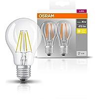 OSRAM LED lamp | Lampvoet: E27 | Warm wit | 2700 K | 4 W | helder | LED BASE CLASSIC A [Energie-efficiëntieklasse A++]