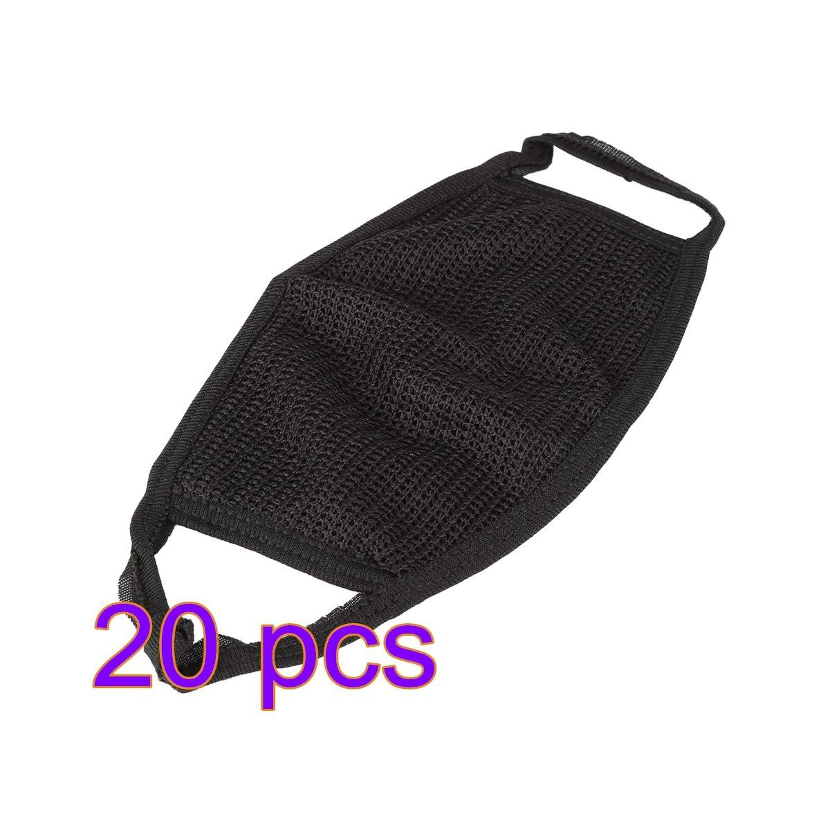 SHUHU Máscaras faciales Antipolvo de algodón Negro Ciclismo con Chimenea Máscara Facial de Boca Respirador de mufla bucal Unisex para Deportes al Aire Libre