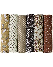 UOOOM 6pcs 50 x 50cm Patchwork Cotton Fabric DIY Handmade Sewing Quilting Fabric Different Designs