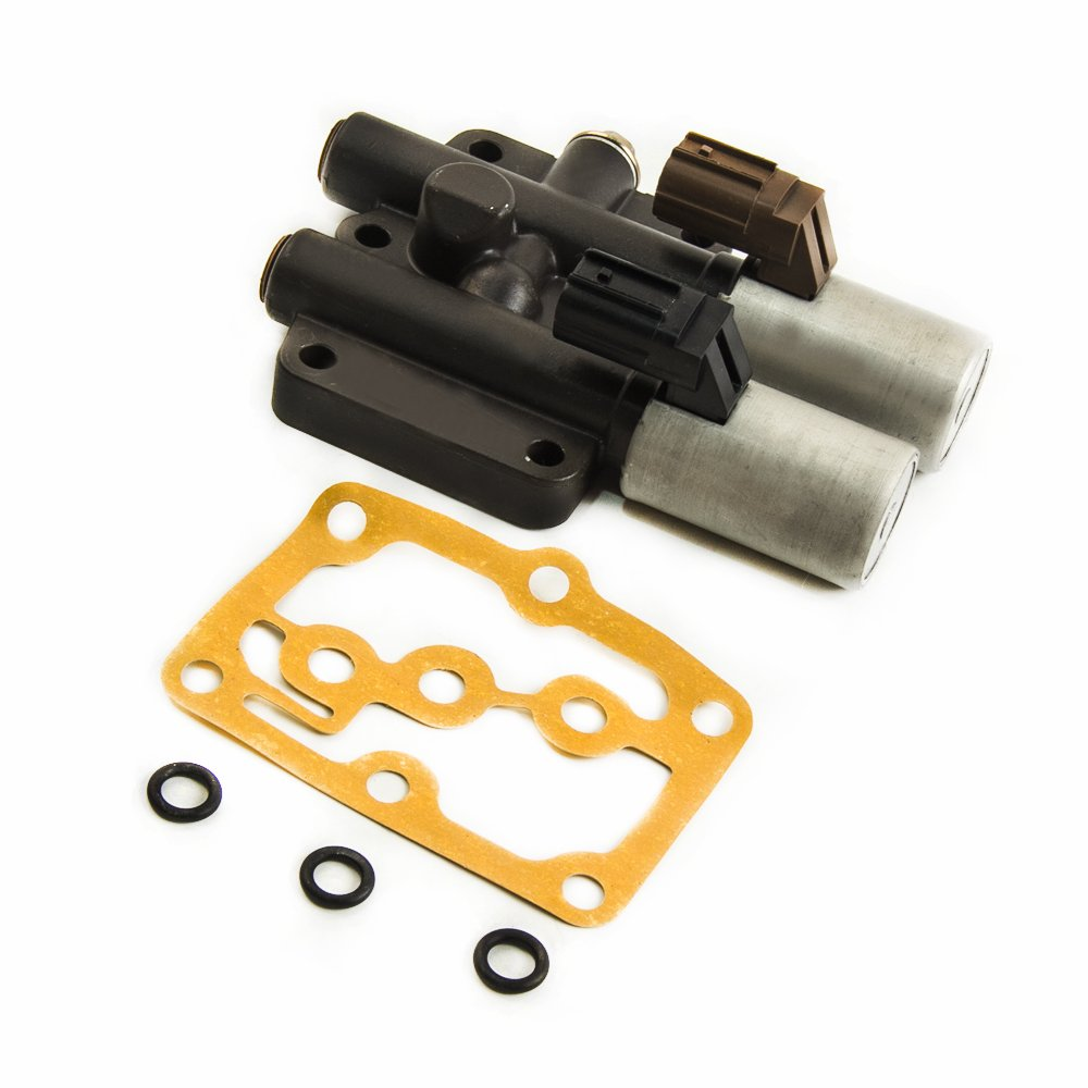 Transmission Dual Linear Solenoid for Honda Accord Pilot Odyssey EX LX Acura CL 28250-P6H-024 28250P6H024 with Gasket O Rings