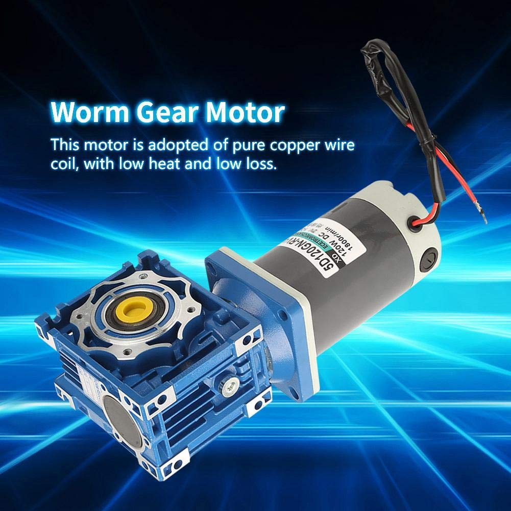 10K DC Motor DC24V 120W 5D120GN-RV40 Worm Gear Motor Speed Adjustable with Self-Locking