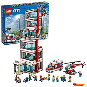 lego city hospital 60204 building kit (861 piece) - 61iRbA29aZL - LEGO City Hospital 60204 Building Kit (861 Pieces)