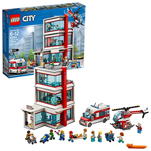 LEGO City Hospital 60204 Building Kit (861 Piece)