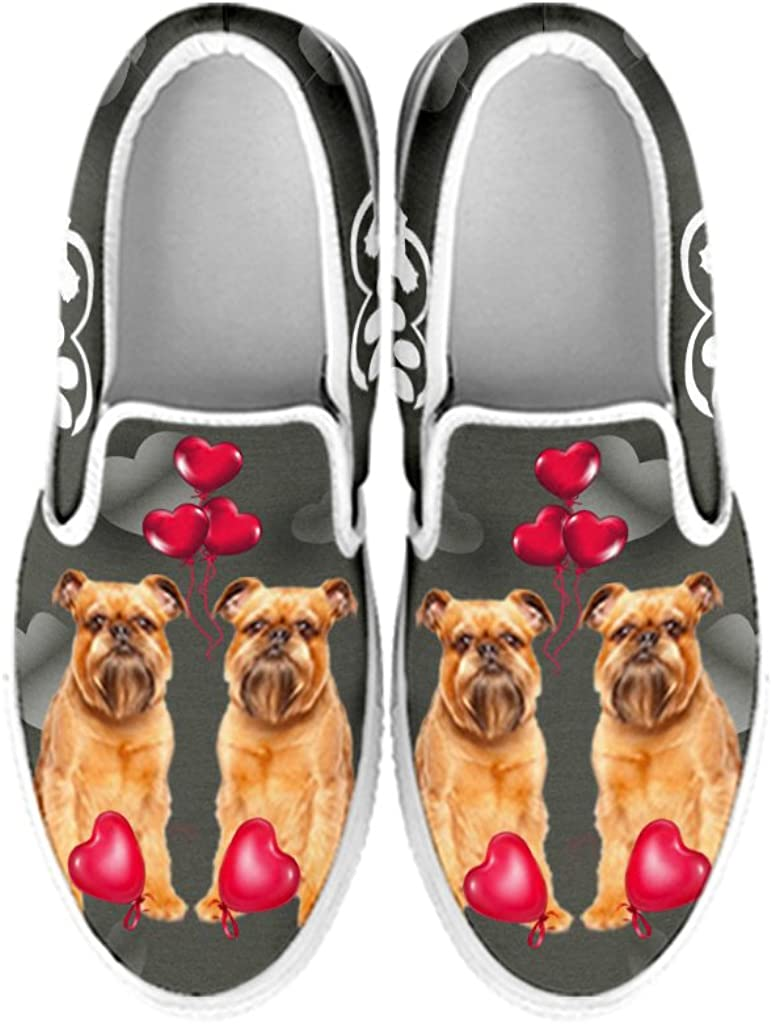 petkanvas Womens Slip Ons-Vizsla Dog Print Slip Ons Shoes for Women