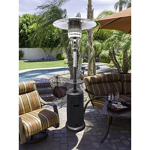 Tall Propane Patio Heater Finish Bronze