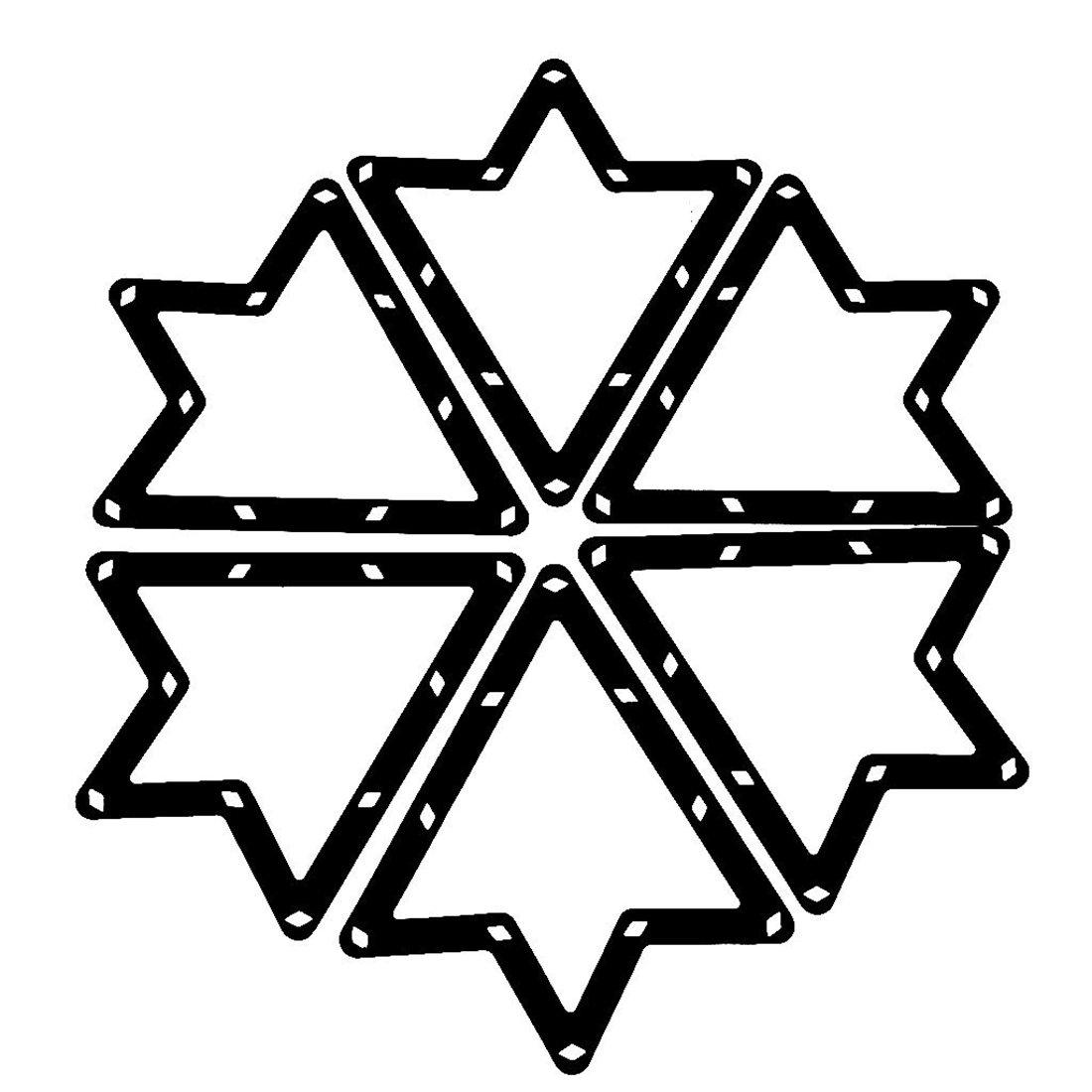 Estante de magia - SODIAL(R) 6pzs Estante de magia Accesorios de taco de hoja de billar negro 9 y 10 bolas