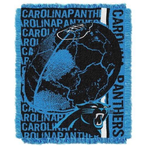 The Northwest Company NFL Carolina Panthers Double Play Jacquard Throw, 48