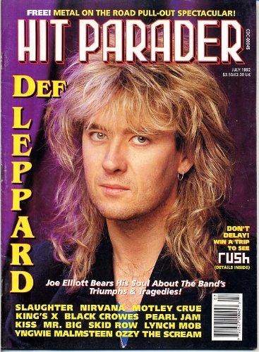 Hit Parader Magazine DEF LEPPARD Slaughter METALLICA CENTERFOLD Lynch Mob SKID ROW Mr Big TRIXTER July 1992 (Hit Parader Magazine)