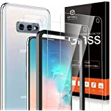 [2+2 Pack] MP-MALL 2 Pack Tempered Glass Screen Protector + 2 Pack Camera Lens Protector Compatible for Samsung Galaxy S10e,