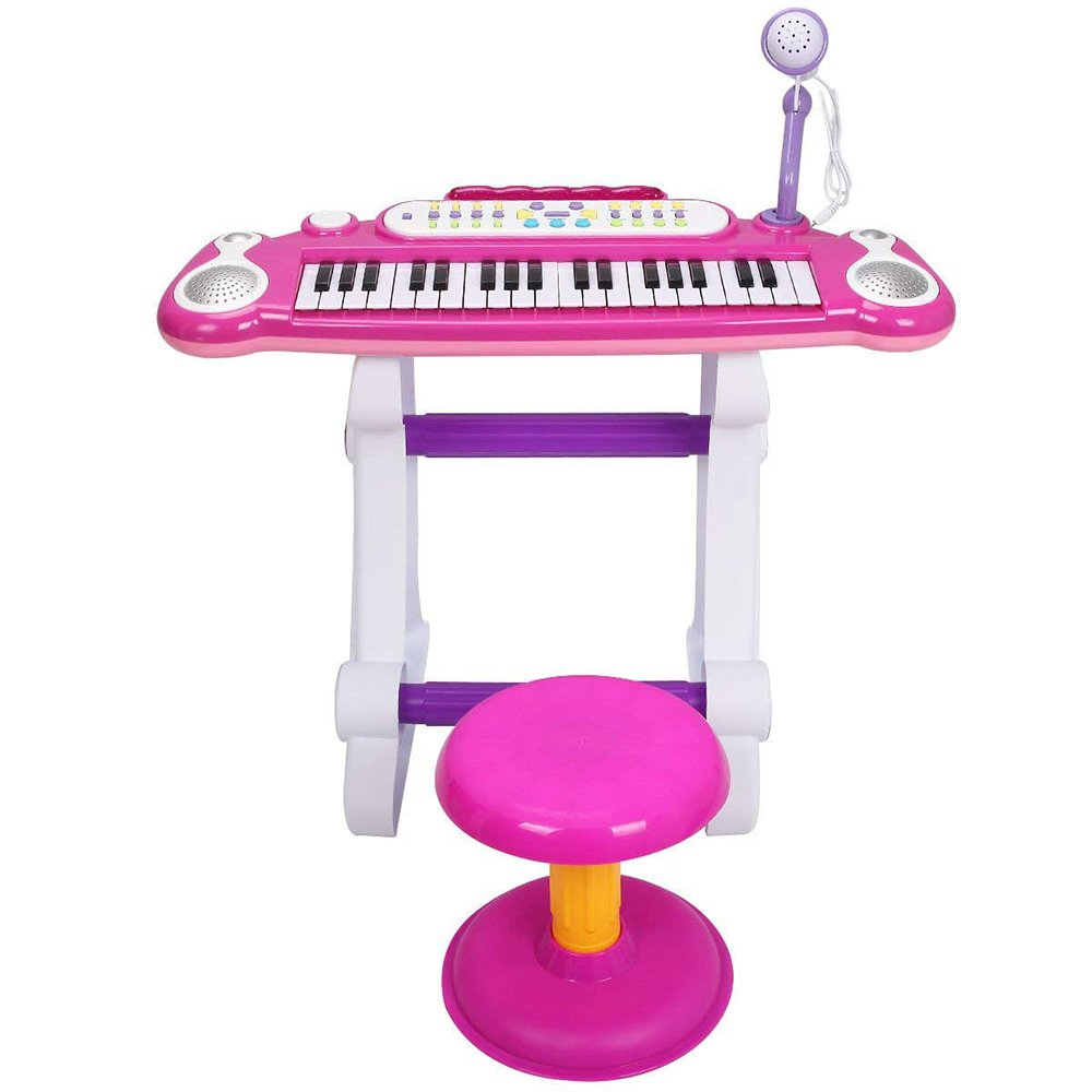 COLOR TREE Musical Kids Electronic Keyboard 37 Key Piano with Microphone by COLOR TREE (Image #2)
