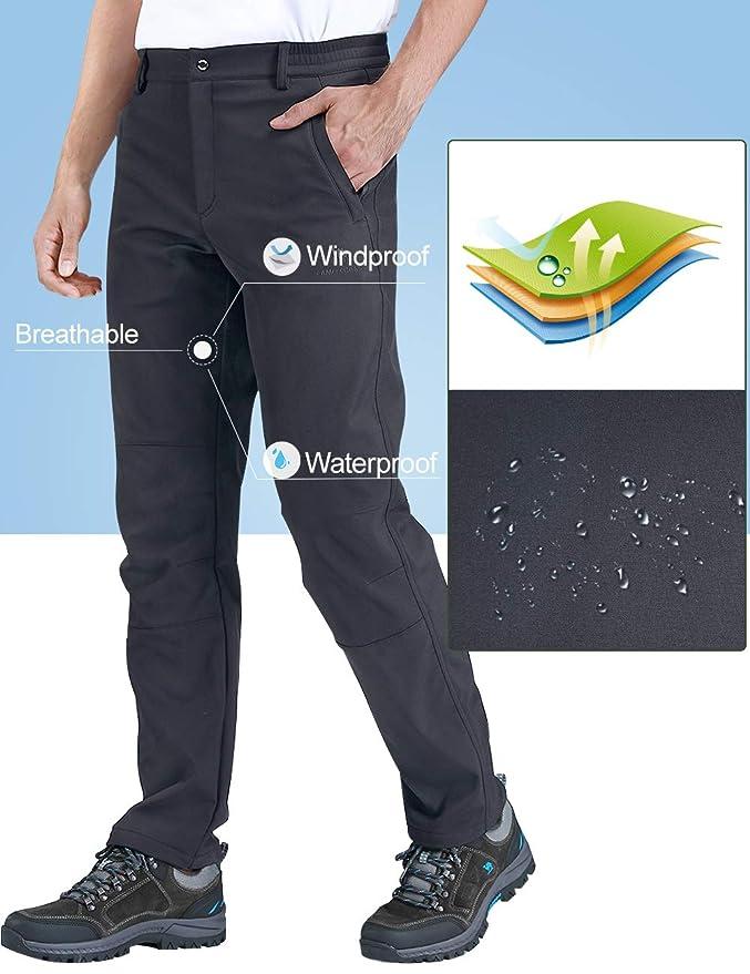CAMEL CROWN Pantalones Trekking Acampada Impermeables Softshell Pantalones para Hombre Mujer Senderismo Monta/ña Escalada