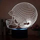3D Lights for Kids Football Hat Night Lamp for Living Room Decoration (Hat) (Bronze)
