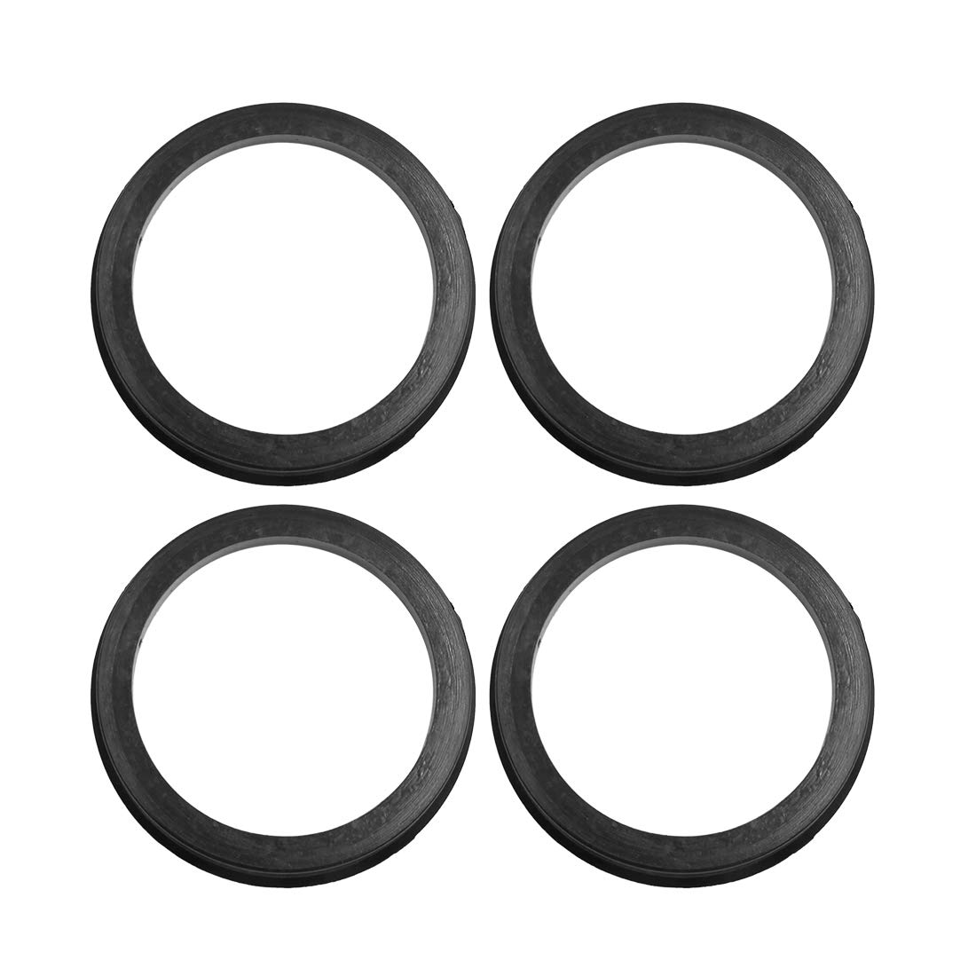 X AUTOHAUX Car Hub Centric Rings Wheel Center Bore 73.1 to 54.1mm 4pcs Black Plastic