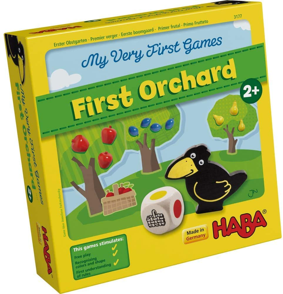 HABA My Very First Games - First Orchard Cooperative Board Game for 2 Year Olds (Made in Germany)
