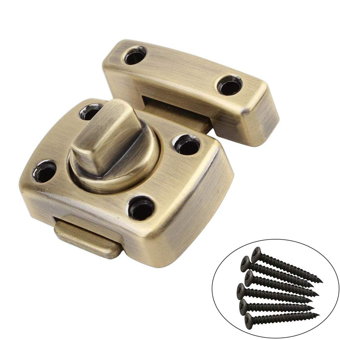 ZXHAO Zinc Alloy Small Size Solid Rotate Bolt Latch Gate Latches/Lock For Pet Gate Cabinet Furniture (Green Bronze)