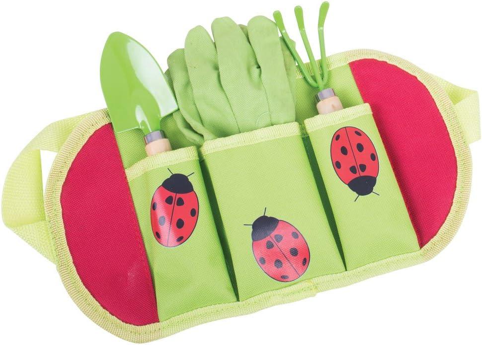 Juguetes Bigjigs de jardiner?a Cinturones para los ni?os y Las Herramientas con Guantes de jardiner?a, Spade y Tenedor