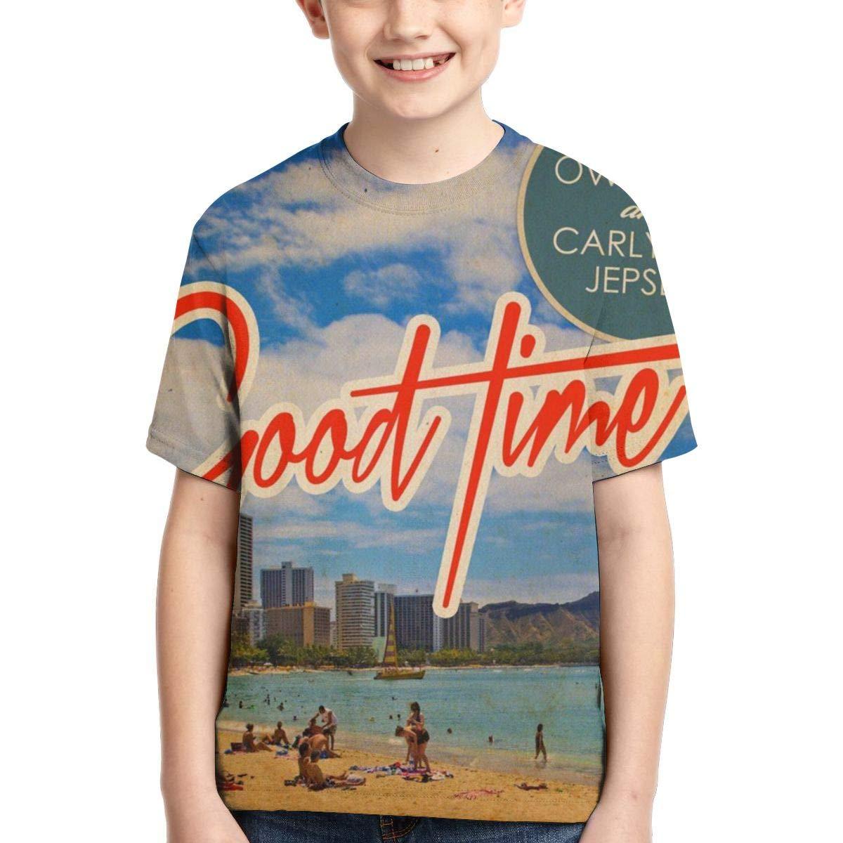 BowersJ Childrens Carly Rae Jepsen Good Time Design 3D Printed Short Sleeve Tshirts for Girls /& Boys Black
