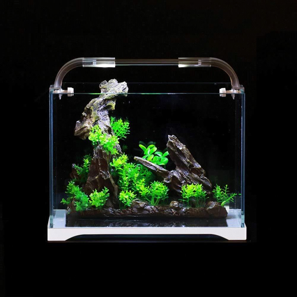 10 JIANGU Fish Tank, Ultra White Glass Aquarium, Living Room Ecological Fish Tank (8)