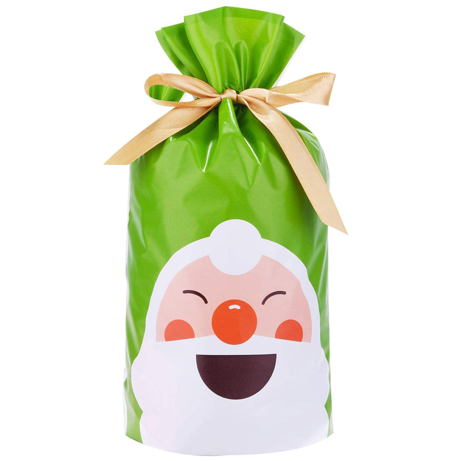 Gift Bags Christmas Paty Favor Bags Treat Bags Heart Santa Deer for Birthday, Christmas Holidays 50 PCS by 17mey