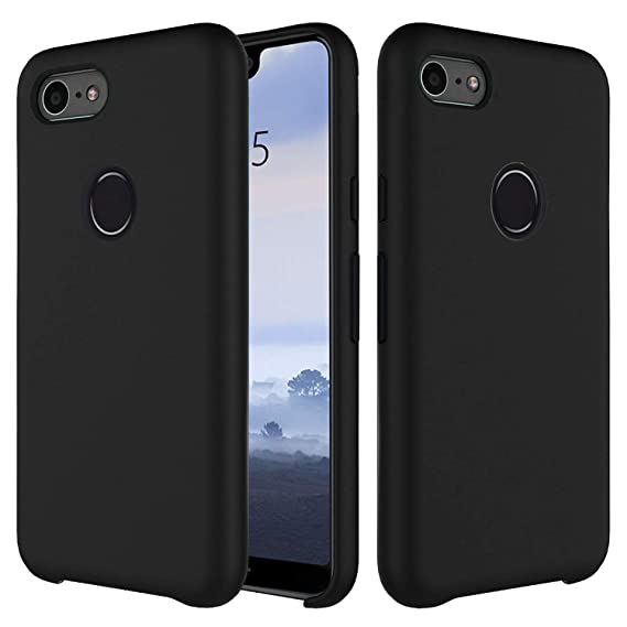 newest d372c 31897 Google Pixel 3 XL Case,Setber Liquid Silicone Gel Rubber Shockproof Case  with Soft Microfiber Cloth Lining Cushion for Google Pixel 3 XL -Black