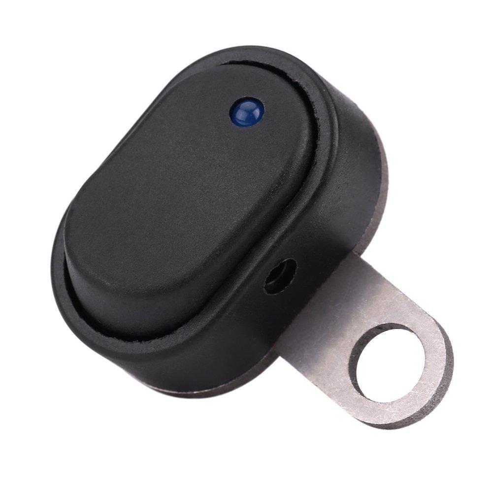 D Keenso Interrupteur de Phare de Moto 12V Universel LED avec Indicateur Guidon Bouton de Montage Commutateur de phare